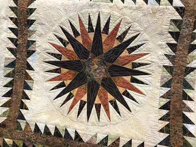 Red Sun at Night Quilt by Audrey Vrooman