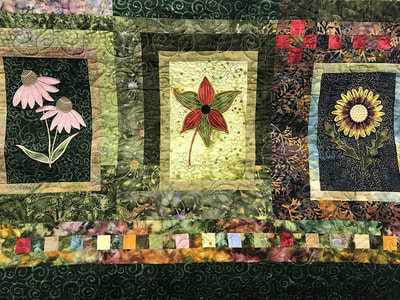 Wild Flowers Quilty by Audrey Vrooman
